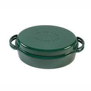 BIG GREEN EGG - Garnek żeliwny owalny / Green Dutch Oven Oval (117670)