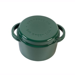 BIG GREEN EGG - Garnek żeliwny okrągły / Green Dutch Oven Round (117045)